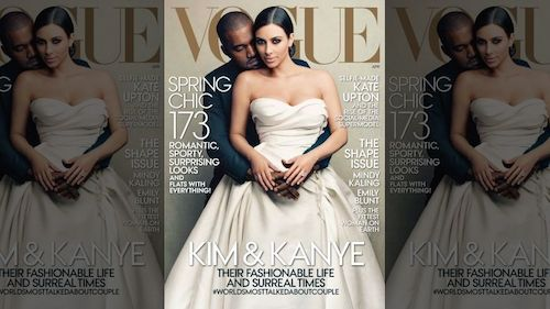 kim kardashian vogue cover handout kanye west